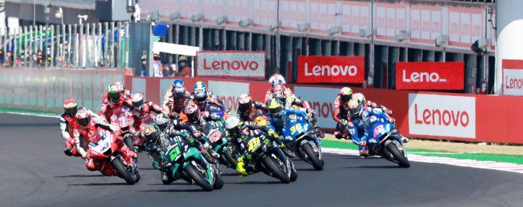 Start wyścigu MotoGP o GP San Marino 2021 w Misano