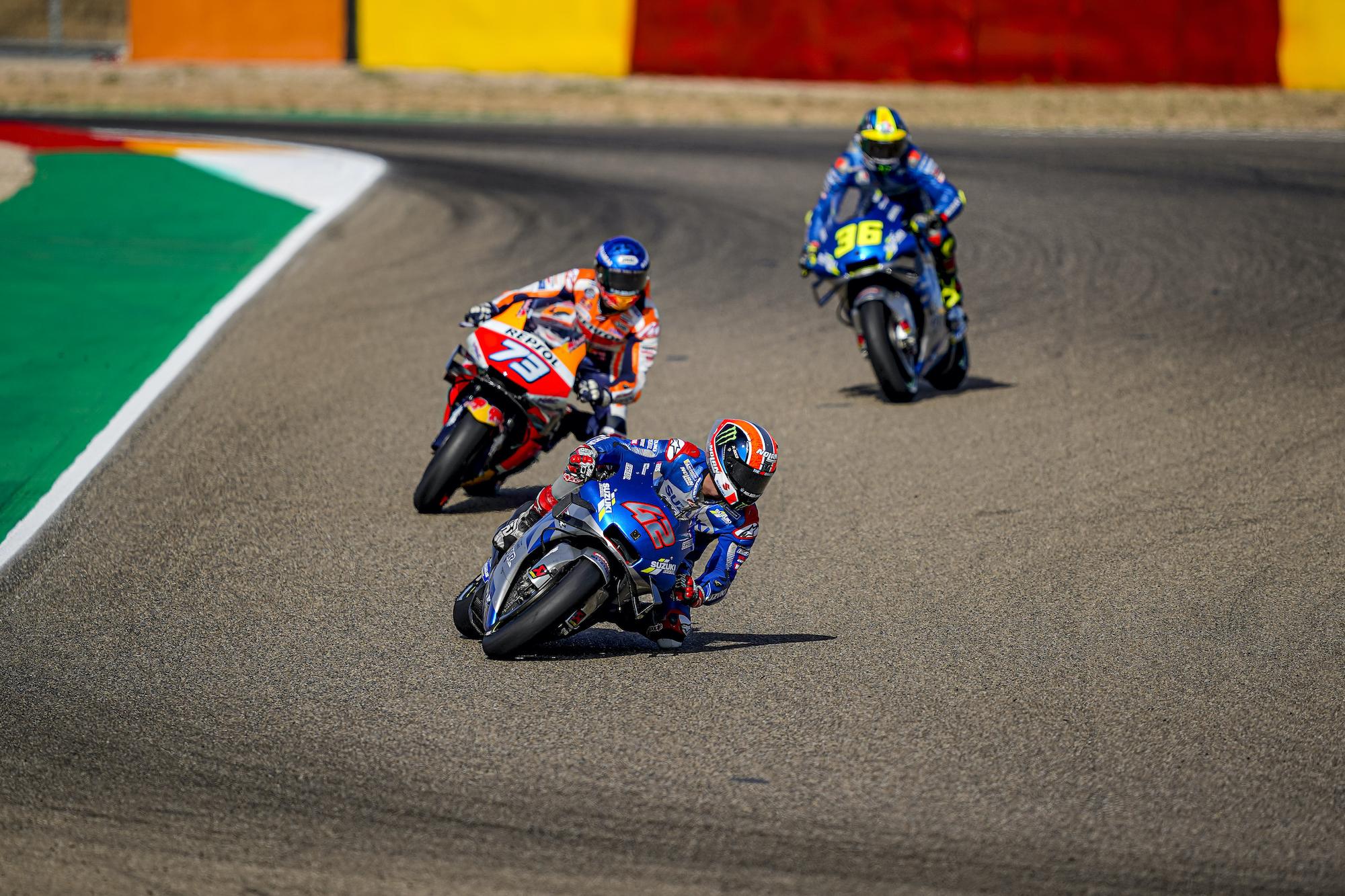 Rins, Marquez, Mir w GP Aragonii 2020