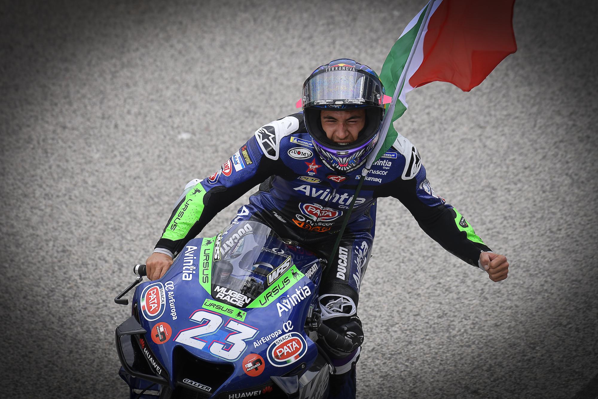 Enea Bastianini podczas GP San Marino 2021 w Misano