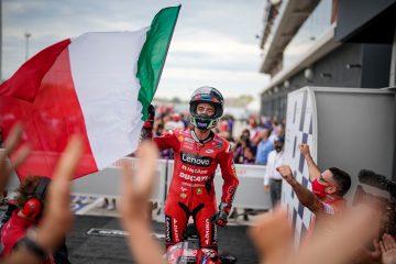 Pecco Bagnaia podczas GP San Marino 2021 w Misano
