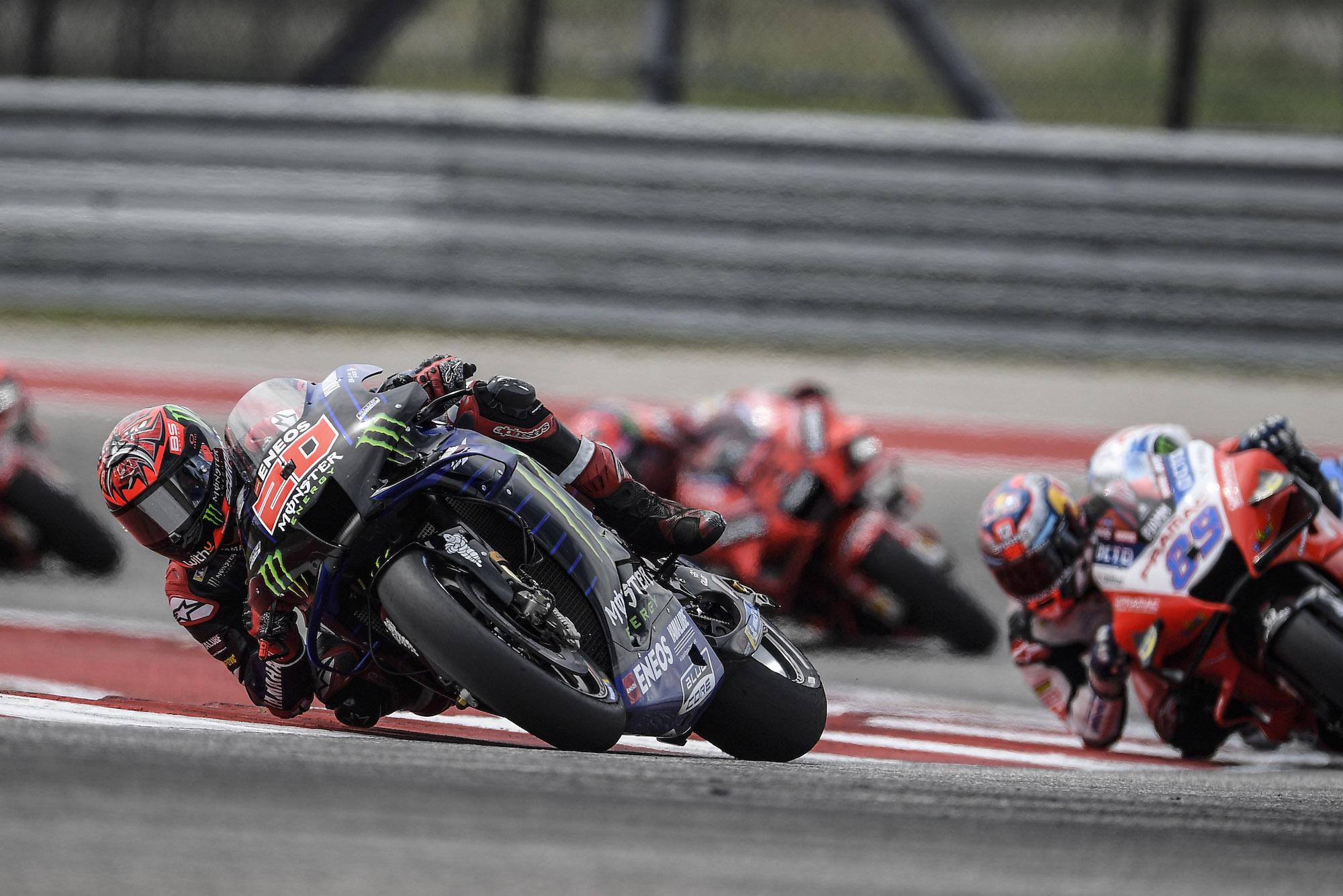 Fabio Quartararo podczas MotoGP na COTA w Austin (Teksas, USA)