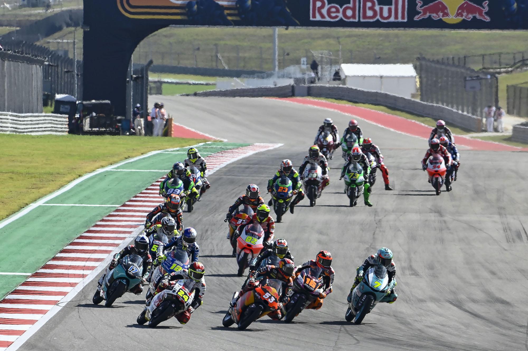 Stawka Moto3 podczas MotoGP na COTA w Austin (Teksas, USA)