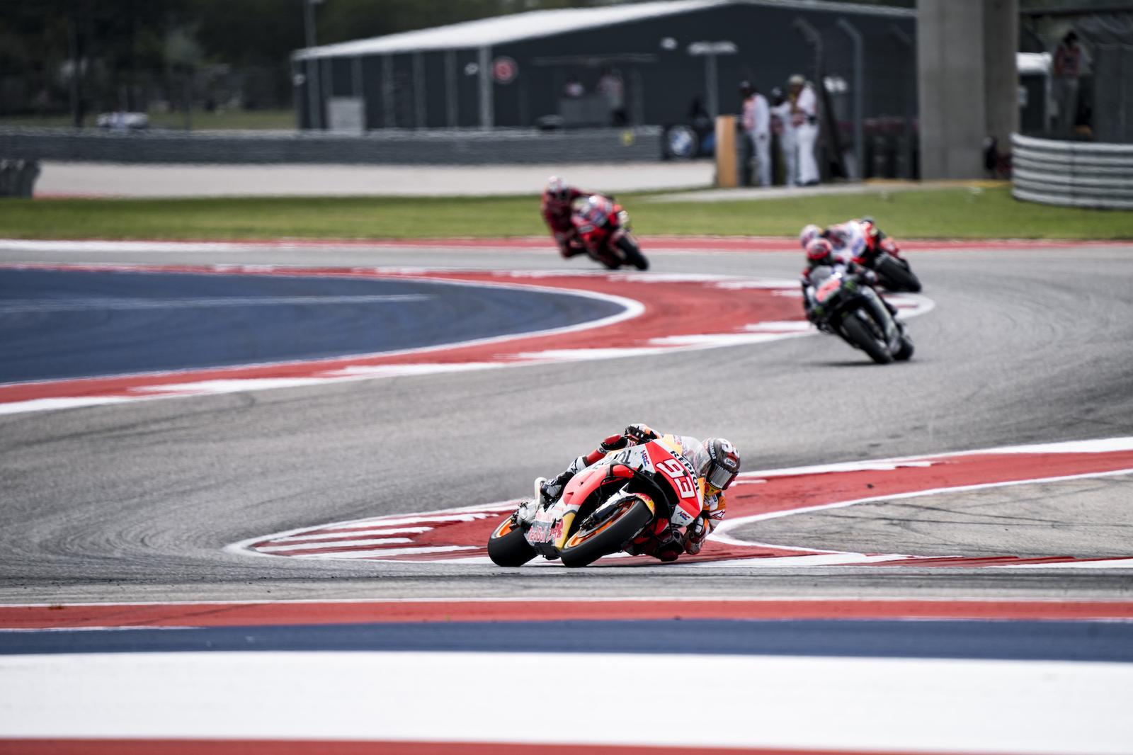Marc Marquez podczas MotoGP na COTA w Austin (Teksas, USA)
